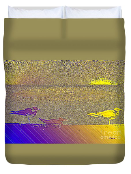 Duvet Cover featuring the photograph Sunbird by Ecinja Art Works