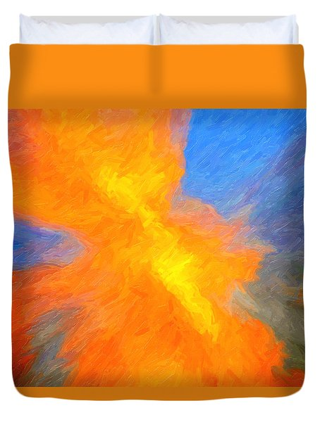 Sunburst Abstract Duvet Cover