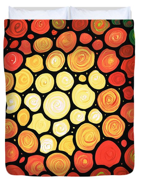 Sunburst Duvet Cover by Sharon Cummings