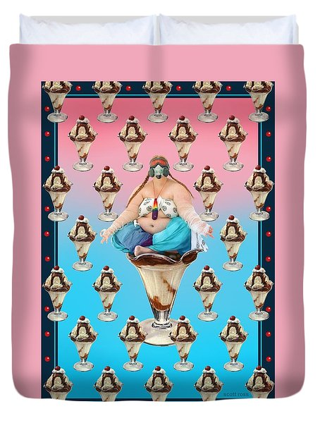 Sundae Girl Duvet Cover