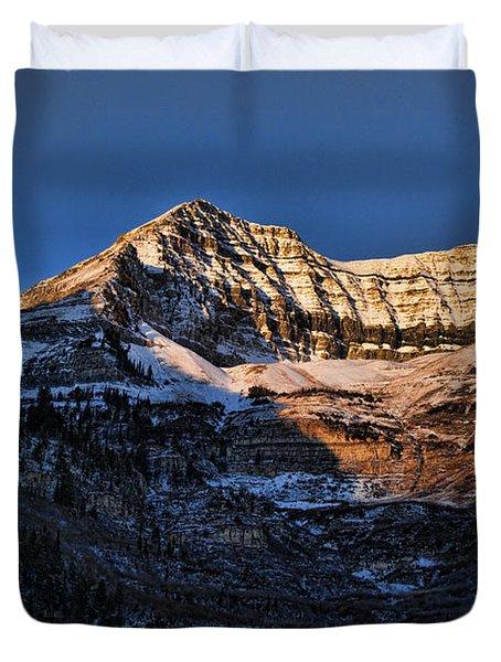 Sundance Aspen-first Light V5 Duvet Cover by Douglas Barnard