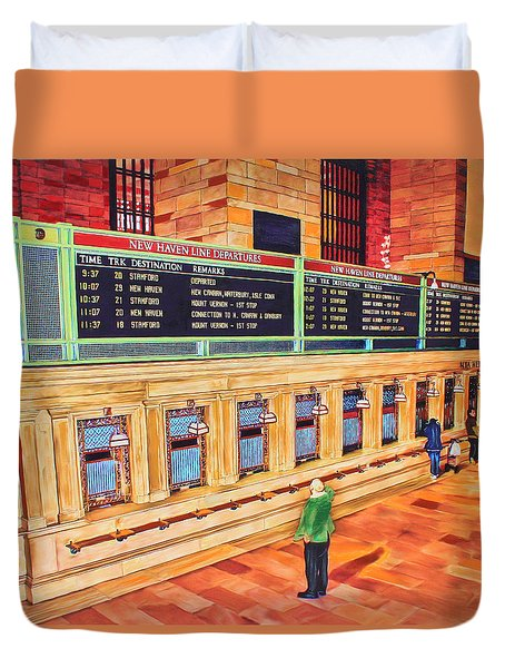 Sunday Am At Grand Central Duvet Cover