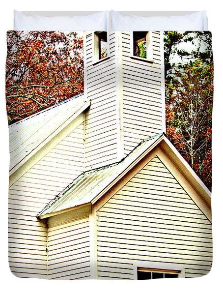 Duvet Cover featuring the photograph Sunday School by Faith Williams
