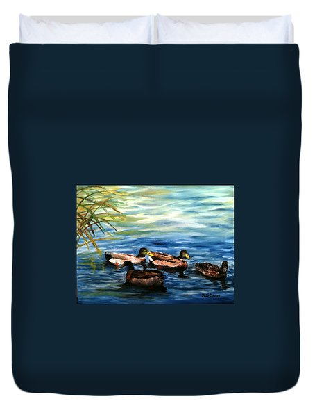 Sunday Swim Duvet Cover