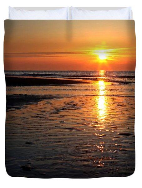 Sundown At The North Sea Duvet Cover