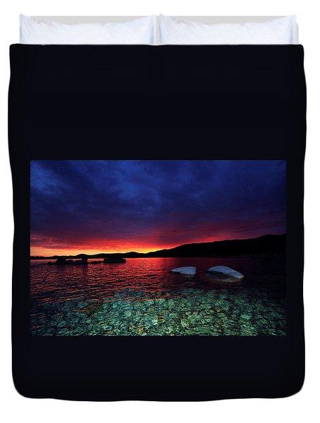 Sundown In Lake Tahoe Duvet Cover
