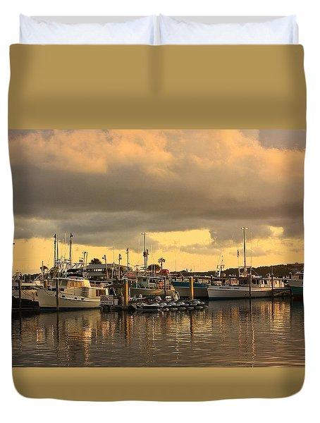Sundown In The Bay... Duvet Cover