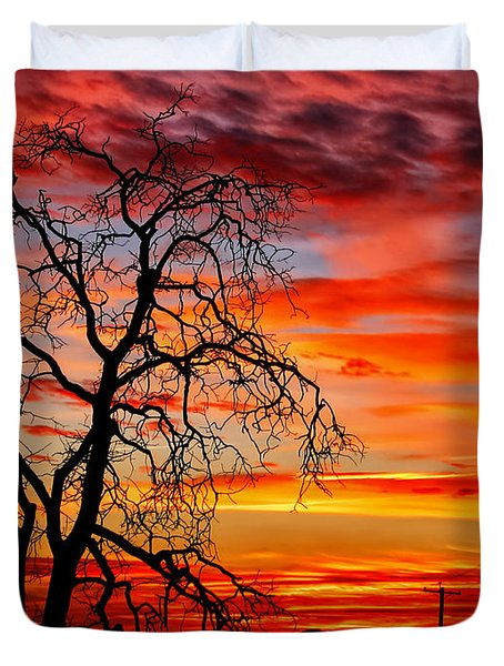 Sundown On Jeffcoat Duvet Cover