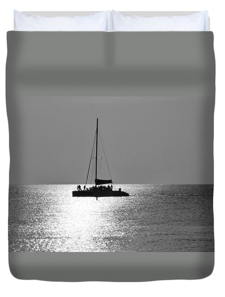 Sundown Sail Duvet Cover by Amar Sheow