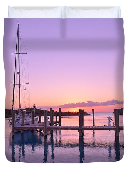 Sundown Serenity Duvet Cover by Jola Martysz