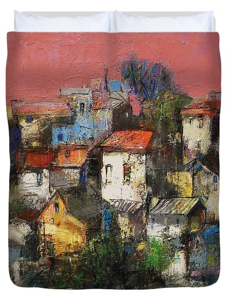 Sundown Touches The Neighborhood Duvet Cover