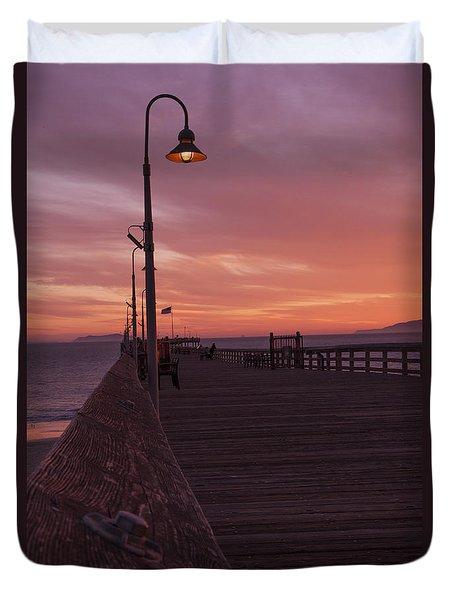 Sundown With Light On Duvet Cover