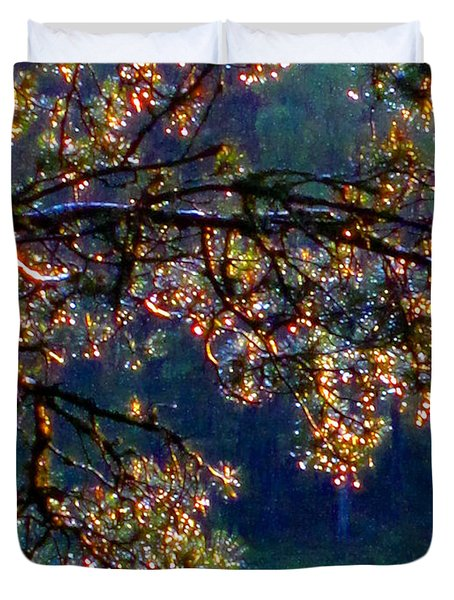 Duvet Cover featuring the photograph Sundrops by Leena Pekkalainen