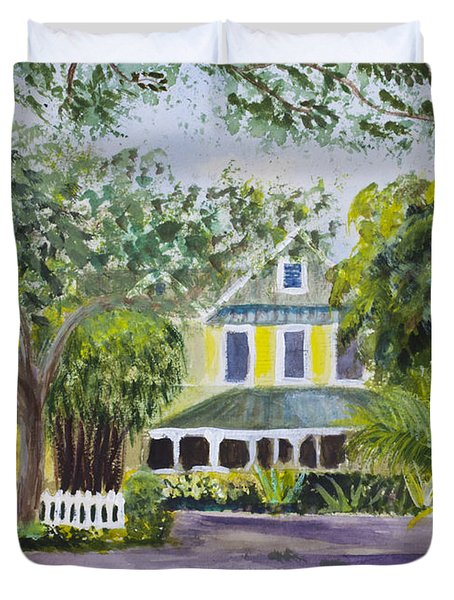 Sundy House In Delray Beach Duvet Cover