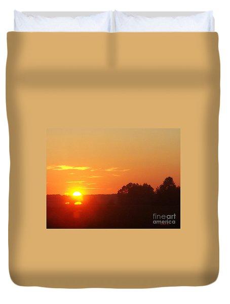 Duvet Cover featuring the photograph Sundown by Jasna Dragun