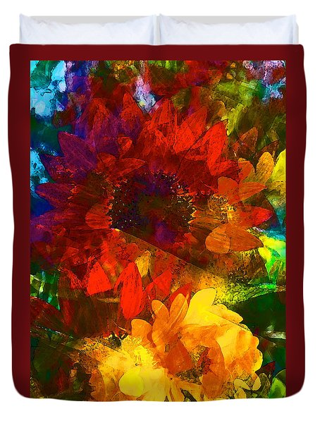 Duvet Cover featuring the photograph Sunflower 11 by Pamela Cooper
