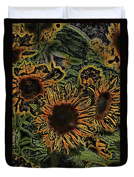 Duvet Cover featuring the photograph Sunflower 18 by Pamela Cooper