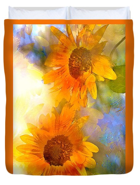 Duvet Cover featuring the photograph Sunflower 26 by Pamela Cooper