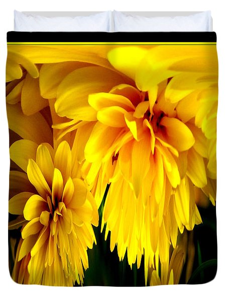 Sunflower Abstract 1 Duvet Cover by Rose Santuci-Sofranko