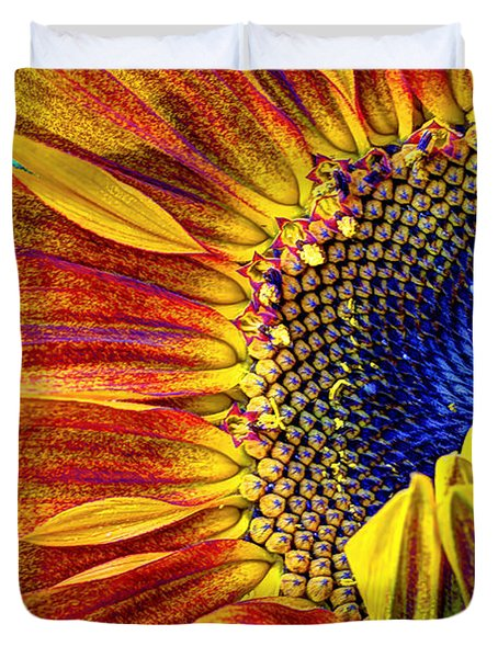 Sunflower Abstract Duvet Cover by Heidi Smith