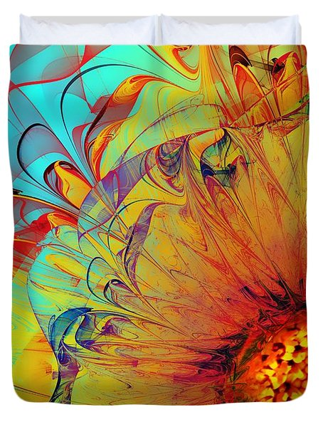 Sunflower Abstract Duvet Cover