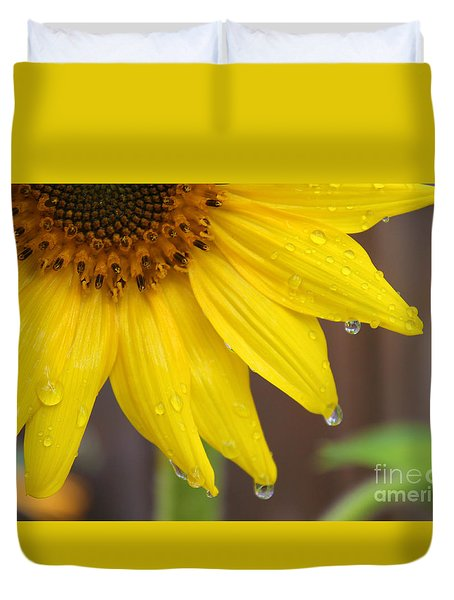 Sunflower After The Rain Duvet Cover by Nina Silver