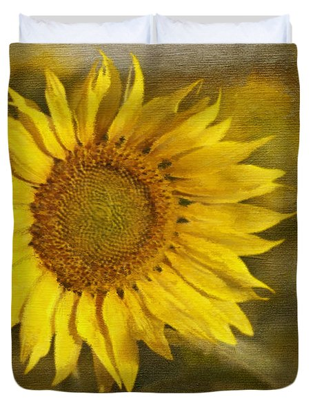 Sunflower And Sunshine  Duvet Cover by Ivelina G