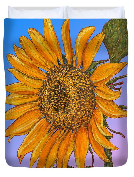 Da154 Sunflower By Daniel Adams Duvet Cover