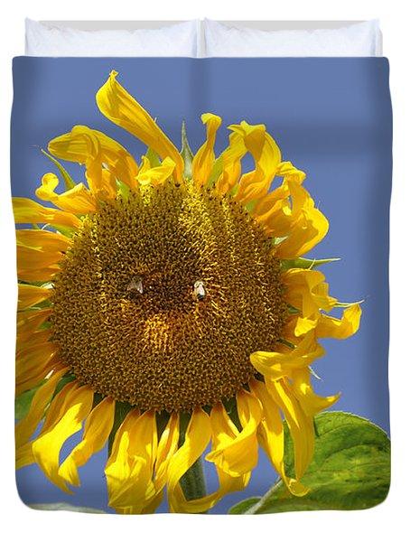 Sunflower At Latrun Duvet Cover