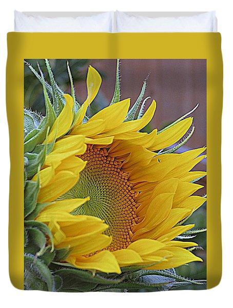 Sunflower Awakening Duvet Cover