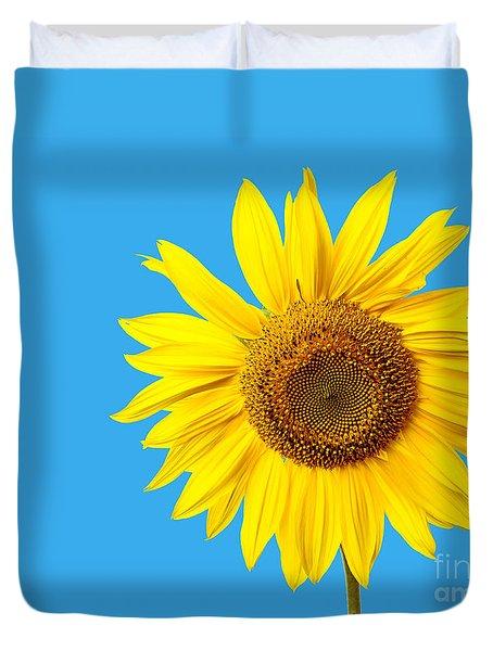 Sunflower Blue Sky Duvet Cover
