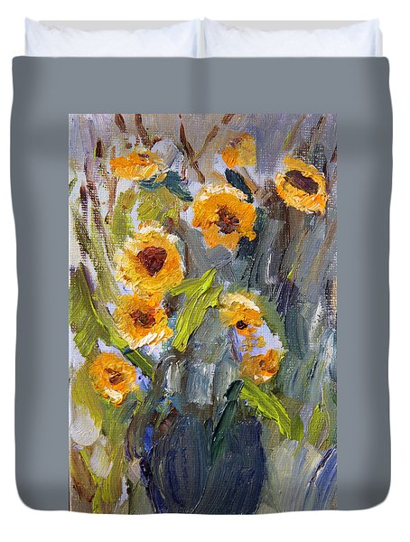 Sunflower Bouquet Duvet Cover