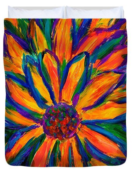Sunflower Burst Duvet Cover