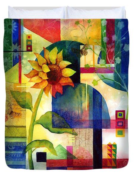Sunflower Collage Duvet Cover