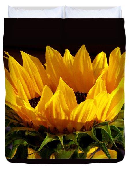 Sunflower Crown Duvet Cover by Deborah  Crew-Johnson