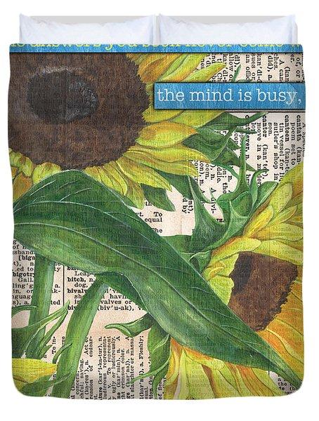 Sunflower Dictionary 1 Duvet Cover