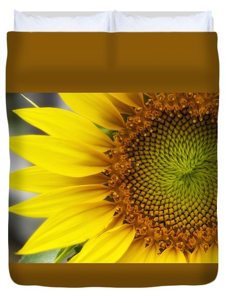 Sunflower Face Duvet Cover