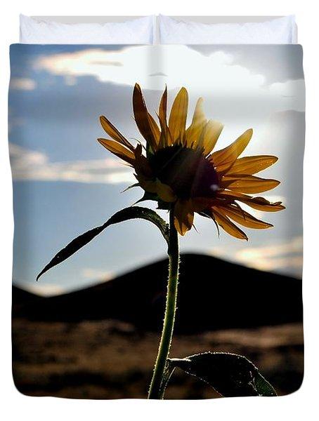 Duvet Cover featuring the photograph Sunflower In The Sun by Matt Harang