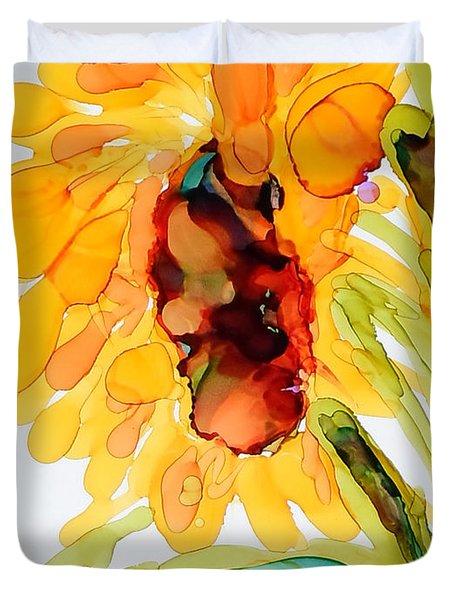Sunflower Left Face Duvet Cover
