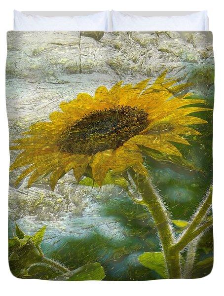 Sunflower Mountain Duvet Cover