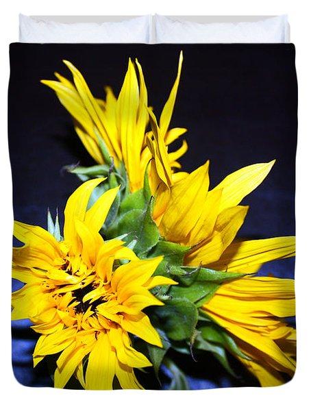 Sunflower Portrait Duvet Cover