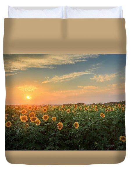 Sunflower Sundown Duvet Cover by Bill Wakeley