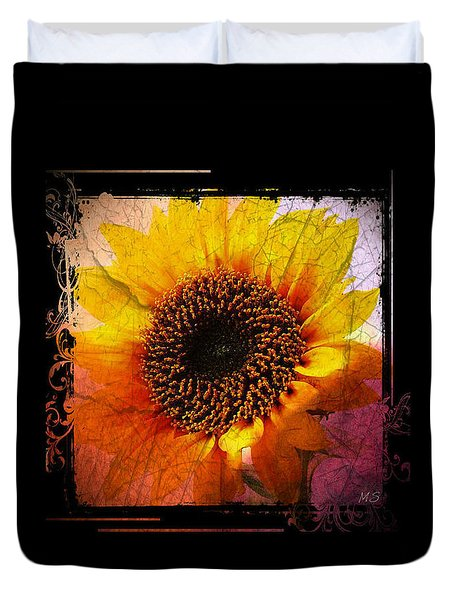 Sunflower Sunset - Art Nouveau  Duvet Cover by Absinthe Art By Michelle LeAnn Scott