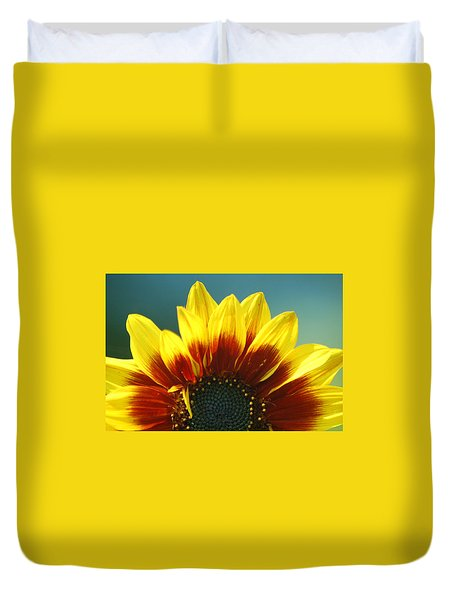 Duvet Cover featuring the photograph Sunflower by Tam Ryan