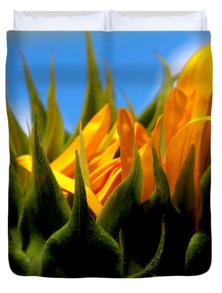 Sunflower Teardrop Duvet Cover