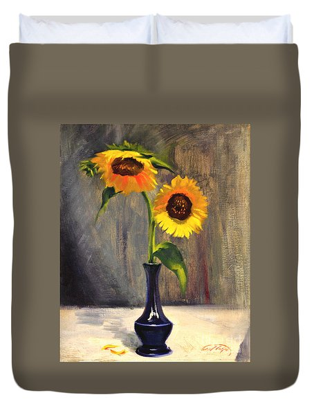 Sunflowers - Adoration Duvet Cover