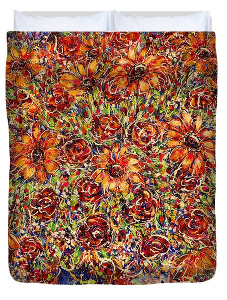 Sunflowers  Duvet Cover by Natalie Holland