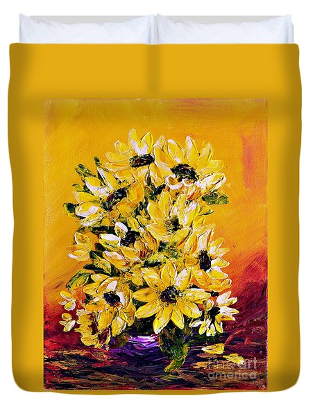 Sunflowers  No.3 Duvet Cover by Teresa Wegrzyn