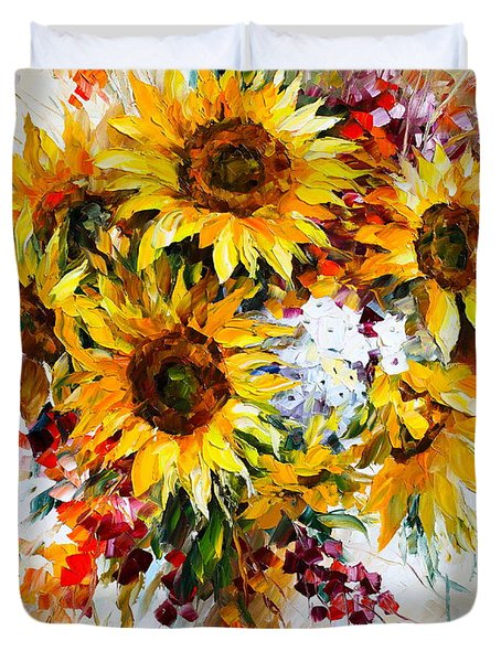 Sunflowers Of Happiness New Duvet Cover