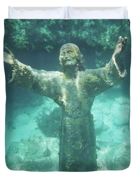 Sunken Savior Duvet Cover by Robert ONeil